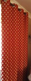 Red and Gold Eyelet Curtains