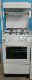 E239 white new world 50cm gas cooker comes with warranty can be delivered or collected