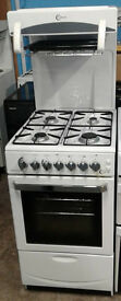 F314 white flavel 50cm high level gas cooker comes with warranty can be delivered or collected