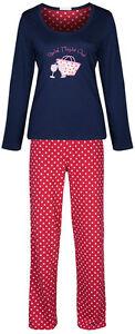 Marks-Spencer-Womens-Cotton-Pyjamas-Set-Long-M-S-PJs-Nightwear-Bottoms-Top