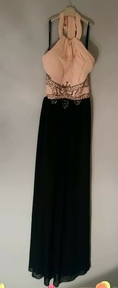 Prom Evening Dress Size 12 Black And Cream In Kilmarnock East