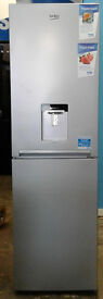 c383 silver beko 50/50 fridge freezer with drinks dispenser new with manufacturer warranty