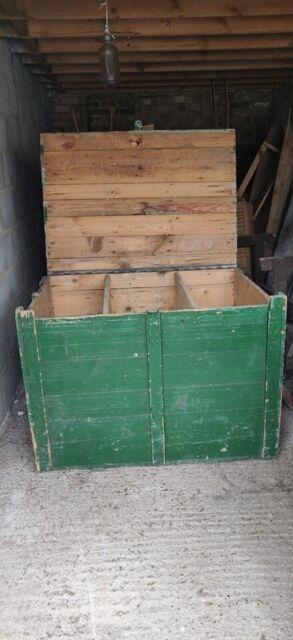 Mid Century Huge Vintage Wooden Farm Grain Trunk Antique Farm Furniture In Finsbury Park London Gumtree