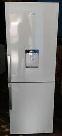 c263 white beko 50/50 fridge freezer with drinks dispenser new with full manufacturer warranty