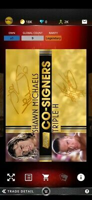 WWE Topps Slam Legendary Co-Signers HHH/Shawn Michaels(DX)