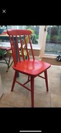 Vintage Red Dining Chairs x 4