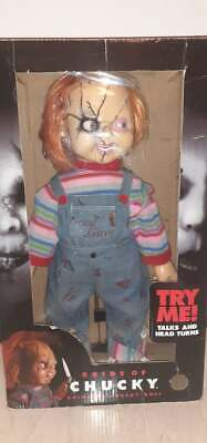 """CHILD'S PLAY RARE VINTAGE 24"""" ANIMATED TALKING CHUCKY FIGURE DOLL - GEMMY"""