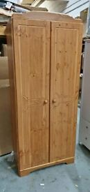 Fully Assembled Nordic 2 Door Wardrobe - Pine