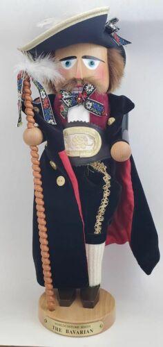 "Vtg SIGNED Christian Steinbach Germany 17"" Costume Series Bavarian Nutcracker"