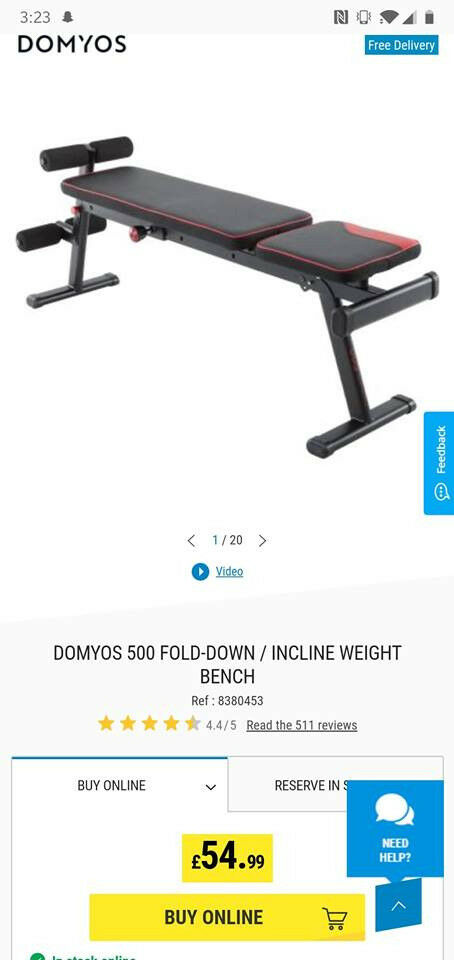 Fold Down Incline Weight Bench In Paisley Renfrewshire Gumtree