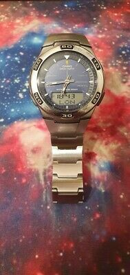 Mens Casio Radio Controlled Wave Ceptor Stainless Steel wristwatch