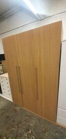 Fully Assembled Atlas 3 Door Tall Wardrobe - Oak Effect