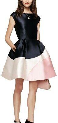 ***NWOT Kate Spade Color Block Fit & Flare Cocktail Dress w/ Boat Neck Size 0***