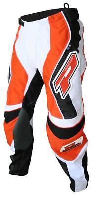 "Progrip MX- Motocross-Enduro Jeans & Shirt Black-Orang-White 26"" Waist-Small Top"