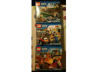 3 Lego City Starter Sets - Ideal Christmas Present - RRP £21