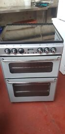 Stoves New home Silver and Black Ceramic hob cooker 60cm