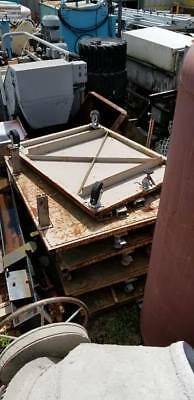 Flat Metal Industrial Storage Cart 64 X 48 Flat Surface