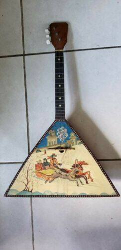 Balalaika Real Folk Musical Instrument with Hand-painted Prima 3 String
