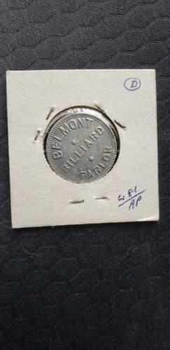 Belmont Billiard Parlor Token Good For 5¢ In Trade Vintage