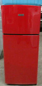 k185 red fridgemaster 80/20 fridge freezer new graded with manufacturers warranty can be delivered