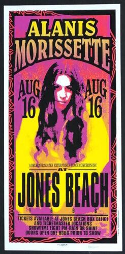 MINT & SIGNED Alanis Morissette 1996 Jone Beach Arminski Poster
