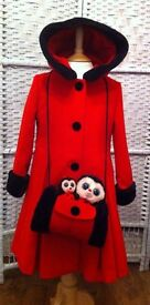 GIRLS WHOLESALE JOB LOT WOOL LINED COAT 93 WITH MUFF WORTH £200 PLUS LESS THAN £5 EACH SHOP CLOSURE