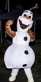 elsa and olaf mascot costume in derby
