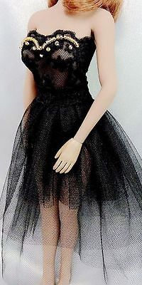 Custom 1:6 Figure Black Dress For 12