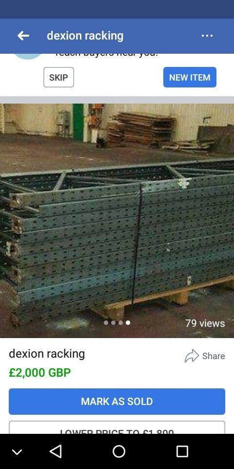Dexion industrial racking pallet racking heavy duty racking