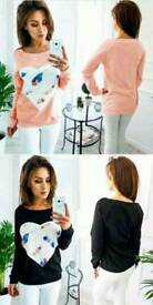 Long sleeve heart jumper