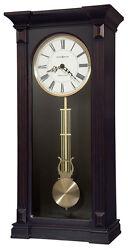 HOWARD MILLER WORN BLACK,CHIMING WALL CLOCK, ROMAN NUMERALS 625-603 MIA