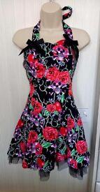 Skull halter neck dress size 10