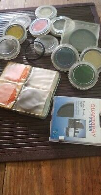 Camera lens filters lot, mostly made in Japan. Various different types.