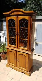 ORNATE GLAZED DRESSER / DISPLAY UNIT IN GOOD CONDITION GREAT UP-CYCLE PROJECT FREE LOCAL DELIVERY