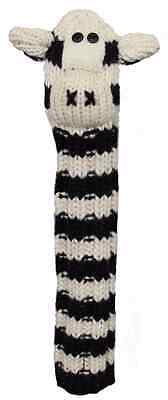 Sunfish Zebra animal knit wool hybrid / utility golf headcover Zebra Golf Headcover