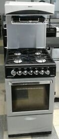 E224 silver beko 50cm high/eye level gas cooker with warranty can be delivered or collected
