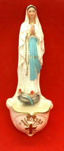 Our Lady of Lourdes Holy Water Font, Made in Italy