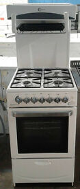 B748 white flavel 50cm high level gas cooker comes with warranty can be delivered or collected