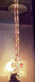 Unusual Colourful Ladies Crucifix Necklace Brand New