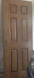 STAINED JELDWEN WOOD GRAIN FIBREGLASS  EXTERIOR DOOR 32""