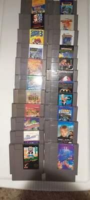 Nintendo Nes lot 22 games Wild gunman Tetris Donkey Kong Batman Ghostbusters