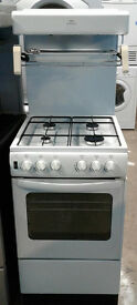 a587 white new world 50cm high level gas cooker comes with warranty can be delivered or collected