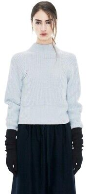 Acne Studios L.NYG.23 Loyal Ribbed Mock Turtleneck Sweater in light blue size S