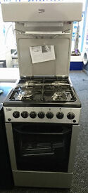lo79 silver beko 50cm high level gas cooker new graded with 12 months warranty can be delivered