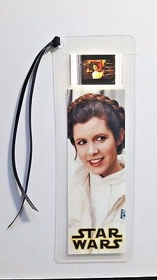 STAR WARS PRINCESS LEIA Movie Film Cell Bookmark - complements movie dvd poster