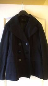 £5.00 Ladies black short coat size 12