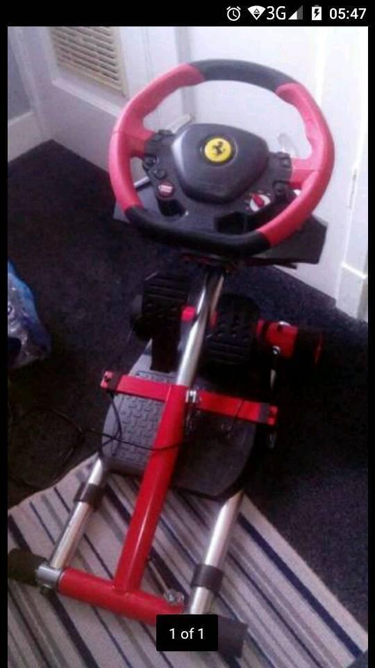 Ferrari 458 wheel, pedal and stand - Xbox 1