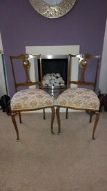 Elegant Pair of Antique Edwardian Chairs.