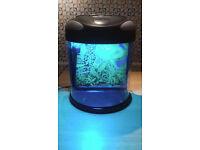 19 litre half moon aquarium fish tank