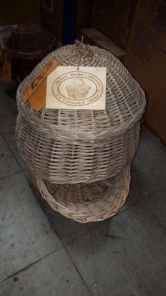 Large wicker potato/onion basket